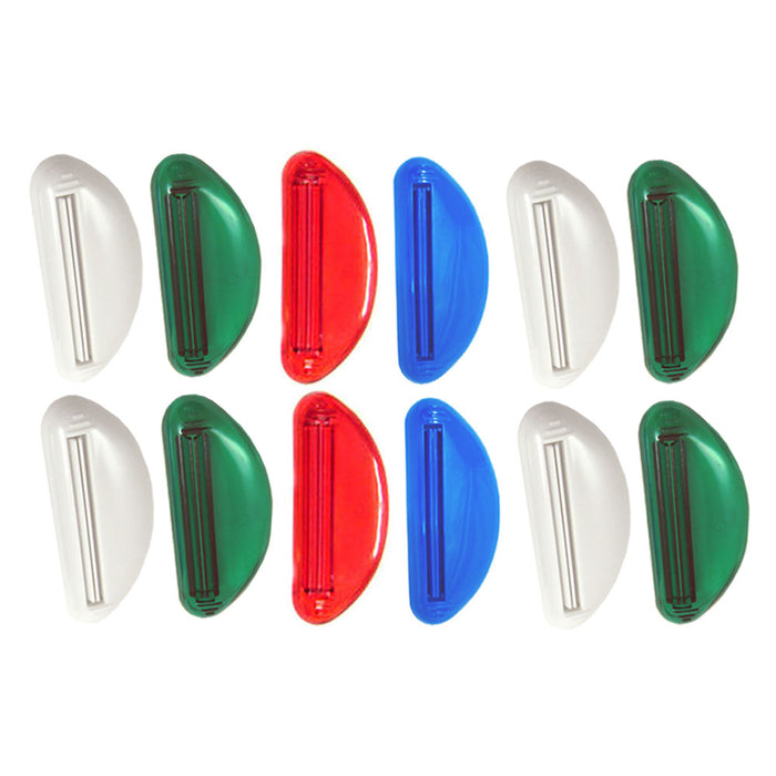 12 Ez Plastic Tube Squeezer Toothpaste Dispenser Holder Rolling Bathroom Extract
