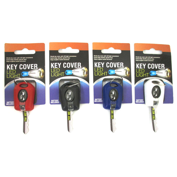 2 Key Cover LED Bright Light Keychain Torch Flashlight Keyring Case Cap New !