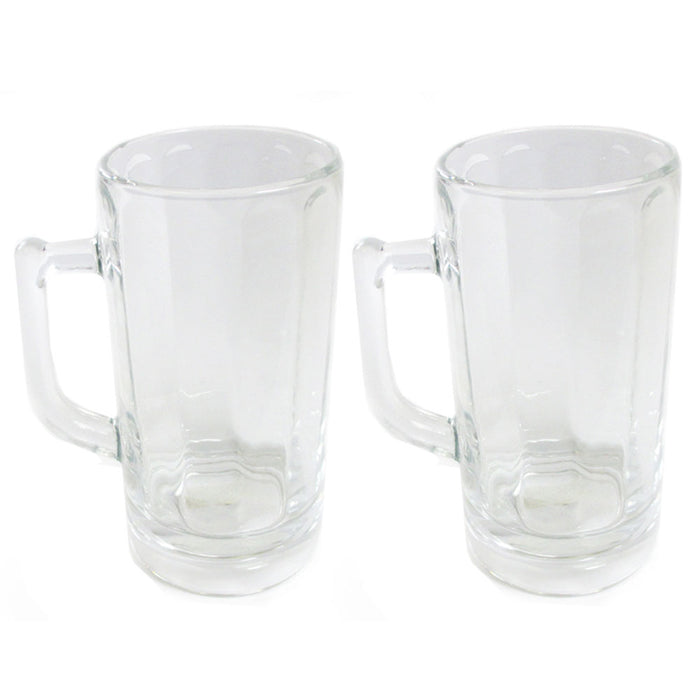 2 Pc Beer Glass Mug Freezer Frosty 20 oz Cold Stein Chilled Frozen Drink Cup Bar