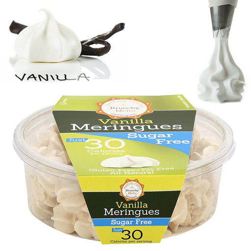 Vanilla Meringues Cookies Gluten Fat and Sugar Free Kosher Snacks Sweets Treats