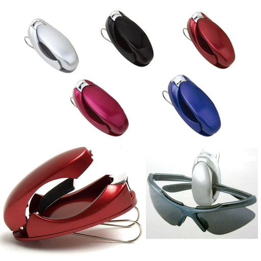 2 Visor Clip Sunglasses Eyeglass Sunvisor Holder Car Auto Reading Glasses Colors