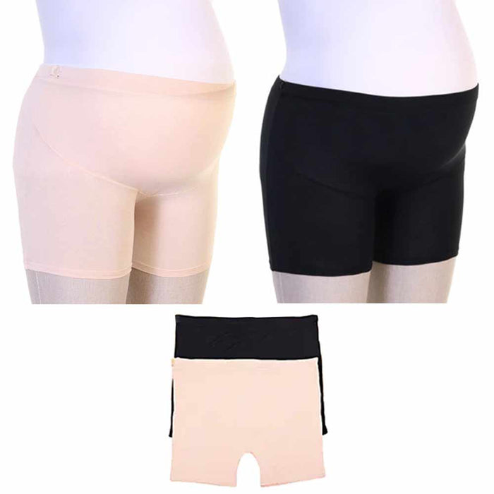 2 Pc Maternity Shorts Modal Panties Over Bump Underwear Pregnancy Tummy L/XL