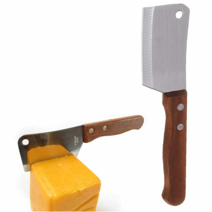 Mini Chop Cleaver Knife Stainless Steel Chopping Cutting Cheese Fruit Kitchen