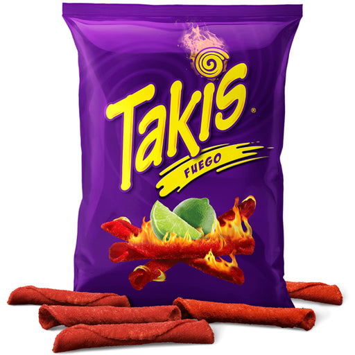 3 Pk Barcel Takis Fuego Hot Chili Pepper Lime Tortilla Chips Spicy Snacks 3.2 OZ