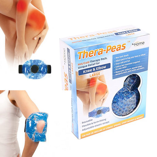 1 Hot Cold Therapy Pack Pain Relief Knee Elbow Reusable Gel Beads Wrap Muscle