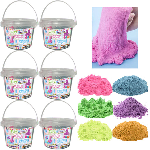6 Pk Magic Cotton Sand Putty Doh Foam Kids DIY Slime Squishy Mud Non Toxic Toy