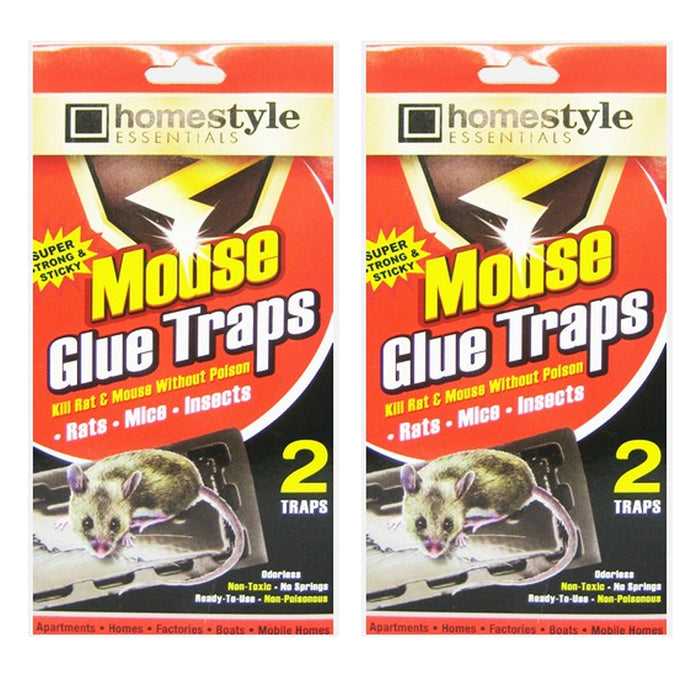 4 Pc Jumbo Size Glue Sticky Trap Rat Mouse Snake Trays Peanut Scent Pest Control