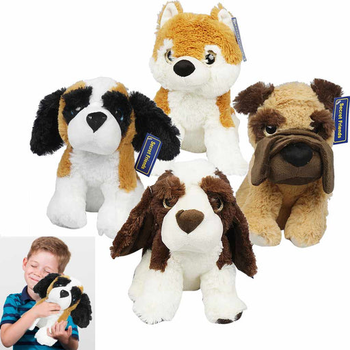 "1 Soft Plush Puppies 12"" Stuffed Animal Puppy Cozy Bedtime Toy Cute Kids Gift"
