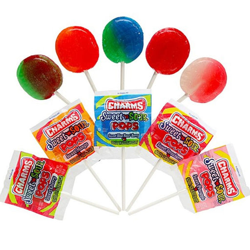 28 Pc Charms Sweet Sour Pops Lollipop Sucker Stick Candy Lollypops Party Favors