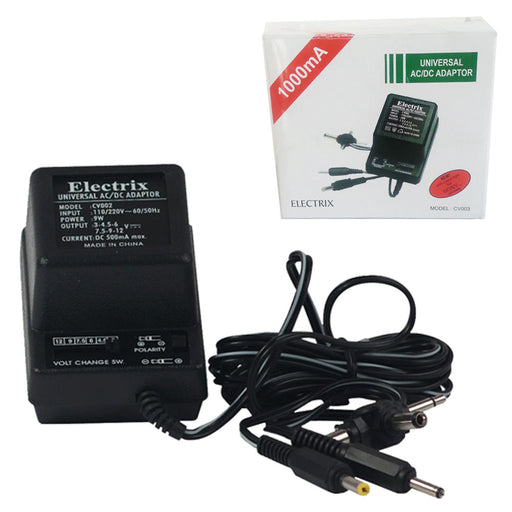 6 Plugs Universal AC DC Adapter Adaptor Sony 1000mA 1.5 to 12 V 110-220V Volt