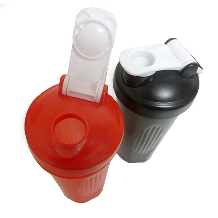 2 Pc Sports Bottles Water Drinking 20 Oz Plastic Canister Hiking Outdoor Wide
