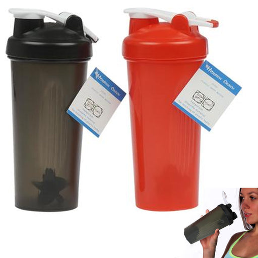 2 Pc 20 Oz Sports Bottles Water Drinking Plastic Canister Hiking Outdoor Wide