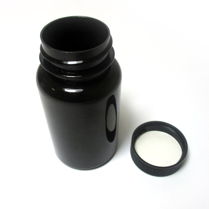 2 Empty Plastic Pill Bottles Medicine Container Vitamin Case Capsule Drug Holder