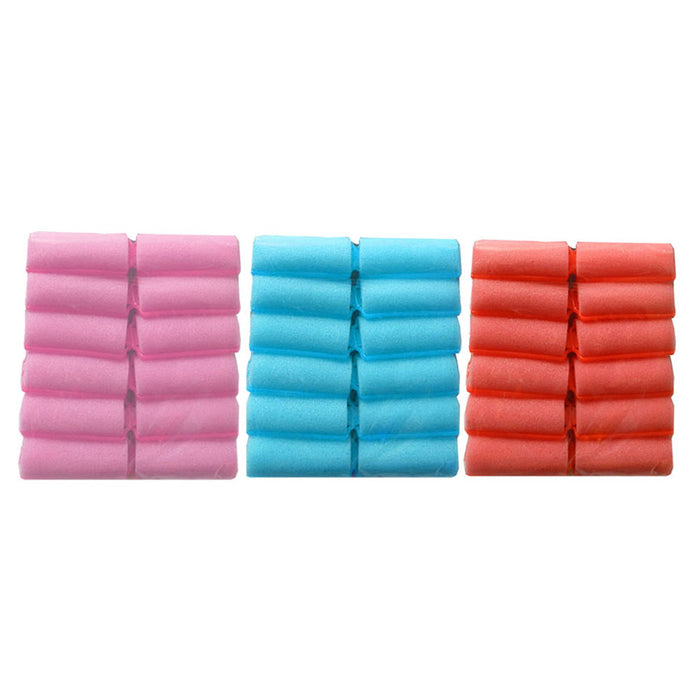 30 X Foam Hair Rollers Medium Soft Cushion Curlers Care Styling Curls Waves New