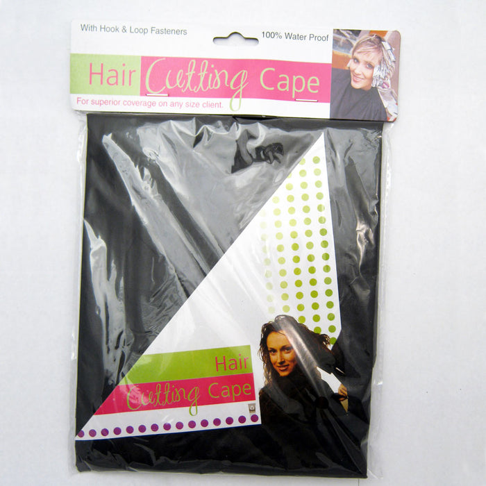 "Professional Salon Cape Fasten Closure Haircut Apron Hair Cut Cape 39""X26"" Black"