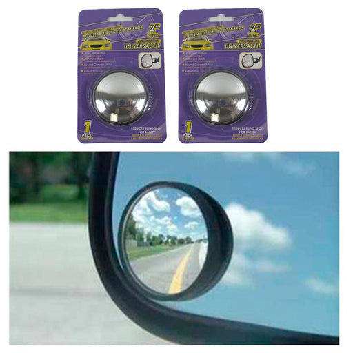 "2pc Universal 2"" Wide Angle Convex Rear Side View Blind Spot Mirror Car Auto"