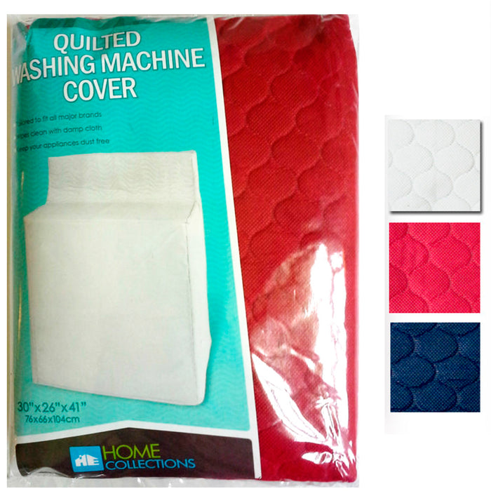 "Quilted Fabric Washing Machine Cover Dust Free Appliance Cover Colors 30""x26""x41"
