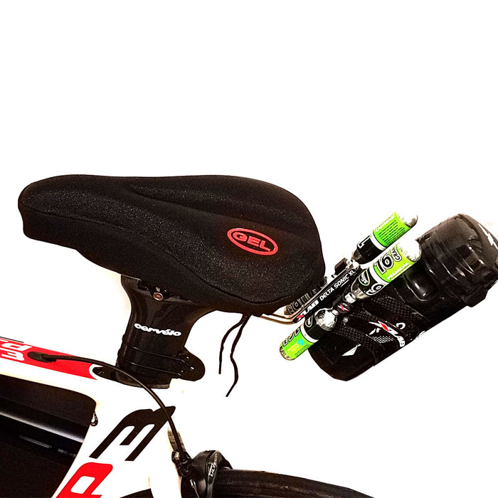 1 Gel Bike Seat Cover Padded Comfortable Bicycle Ride Soft Cushion Saddle