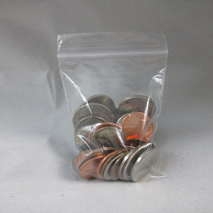 "200 Baggies W 2""X3"" H Small Reclosable Seal Clear Plastic Poly Bag 2.5ml"