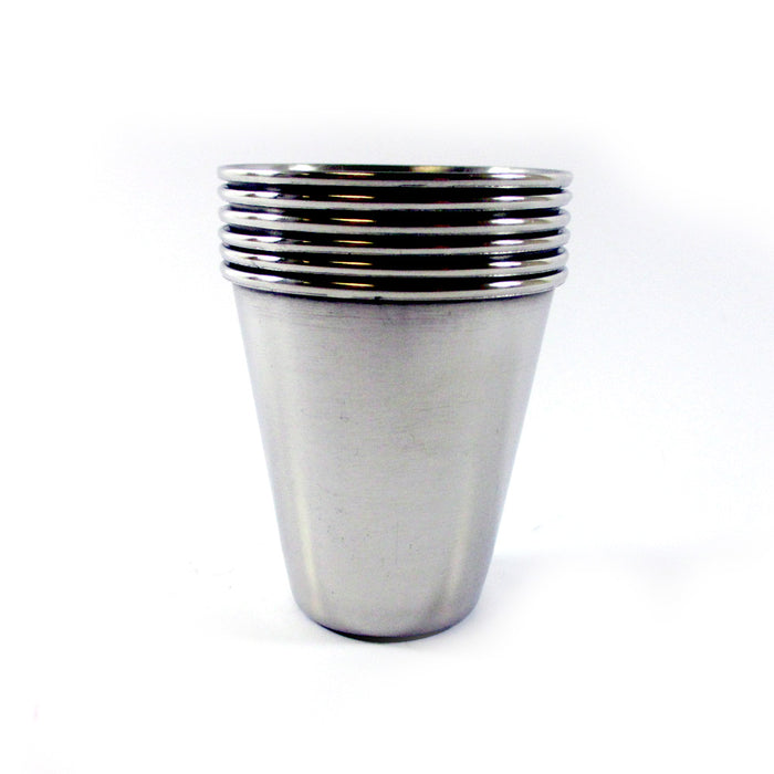 12 Pc Stainless Steel Shot Glass Set 2 Oz Cup Bar Drinking Shots Party Bartender