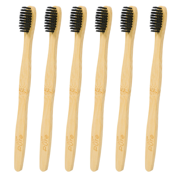6 Pc Natural Moso Bamboo Toothbrush Soft Bristles Oral Care Clean Adult Children