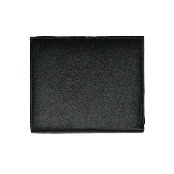 Mens RFID Bifold Wallet ID Credit Card Holder Lambskin Leather Black Slim Thin
