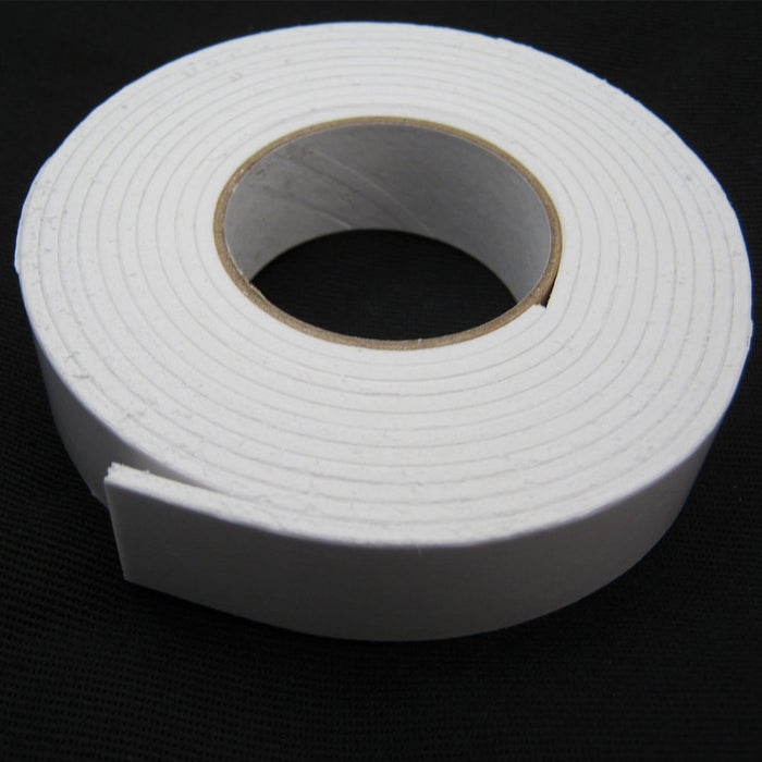 "4 Roll Double Sided Tape Faced Foam White 3/4"" x 16 FT Adhesive Attachment Mount"