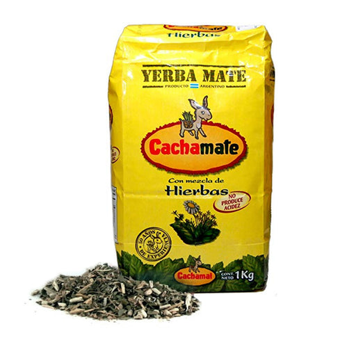 Yerba Mate Argentina Green Tea 1 Kg Natural Loose Leaf Herbal Drinking Cachamate