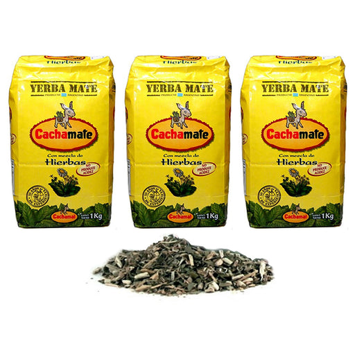 Yerba Mate Argentina Green Tea 3 Kg Natural Loose Leaf Herbal Drinking Cachamate