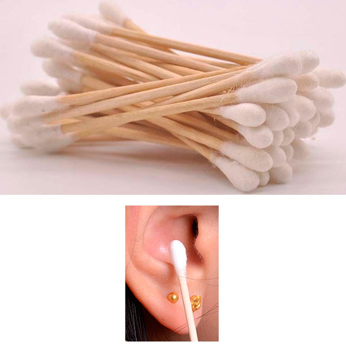 900 Ct Cotton Swabs Double Tipped Applicator Q Tip Safety Ear Wax Makeup Remover