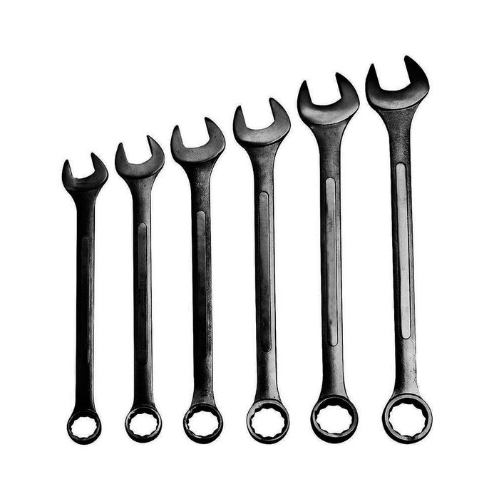 6 Pc Wrench Set Jumbo Combination Huge Large Metric Big Tools Heavy Duty Kit