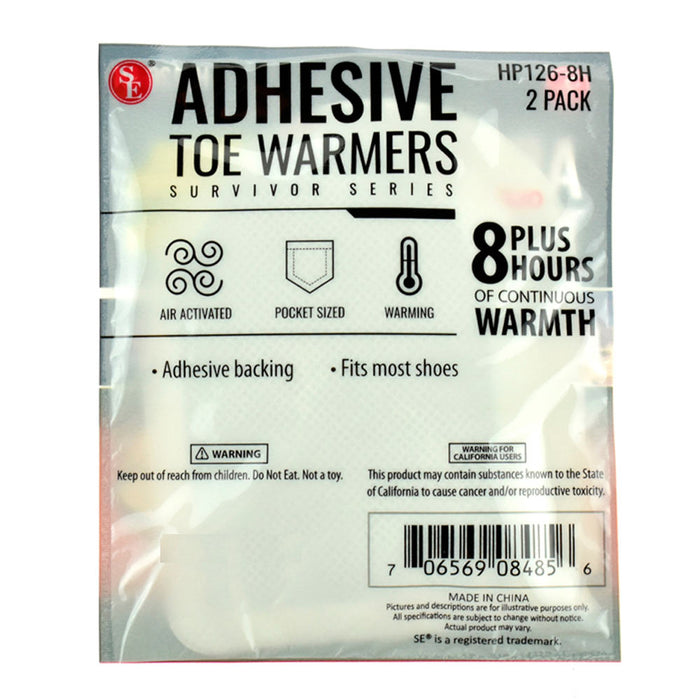 12 Pack Adhesive Toe Warmer 12 Pair Insole Hot Feet Pads 8 Hour Heat Winter Ski