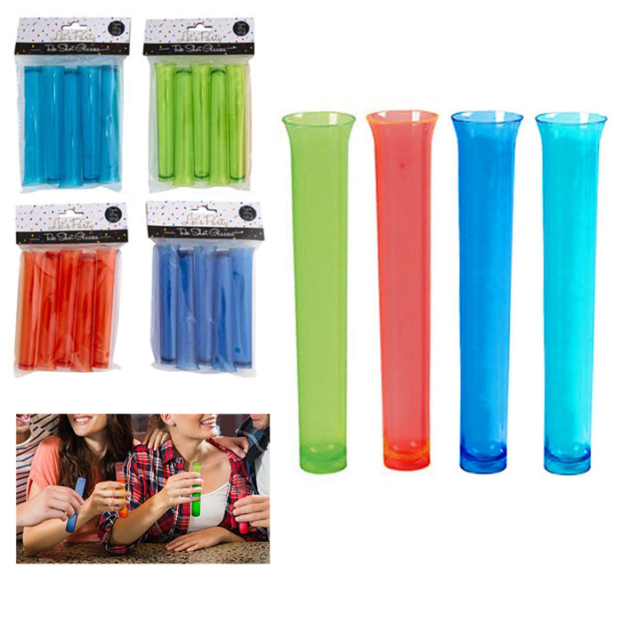 5pc Test Tube Shot Glasses Shooter Lab Party Bar Accessory Pub Drinking Fun Gift