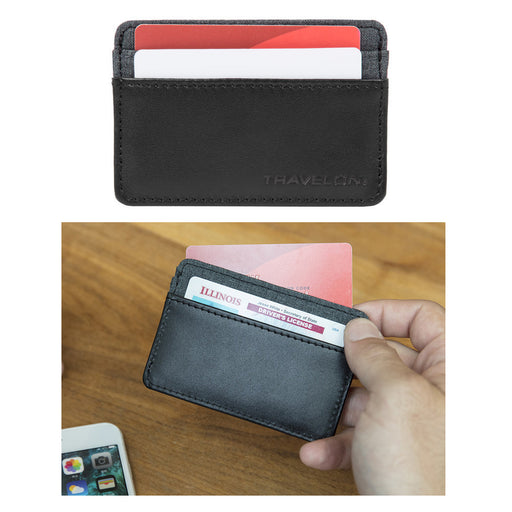 Travelon RFID Blocking Credit Card Sleeve ID Holder Protector Anti-Theft Wallet
