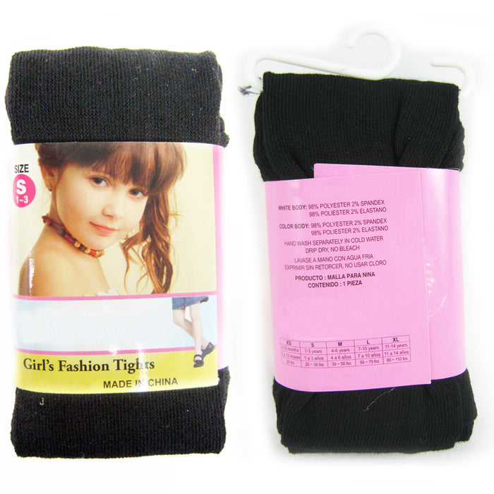 6 Pc Girls Kids Black Footed Tights Dance Stockings Pantyhose Ballet Small 1-3