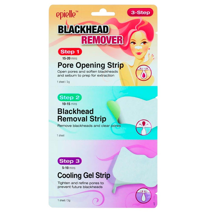 3 Pack Nose Strips Pore Cleansing Blackhead Remover Peel Off Mask Nose Sticker