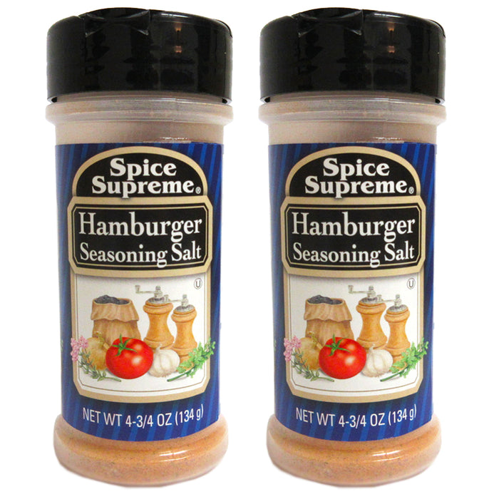 2 Pack Spice Supreme Hamburger Seasoning Salt Burgers Grill Cooking 4.75 oz New