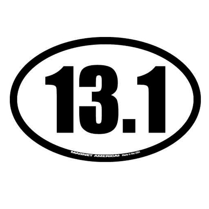 2Pc 13.1 Half Marathon Decal Magnet Oval Car Window Running Race Charity Fitness