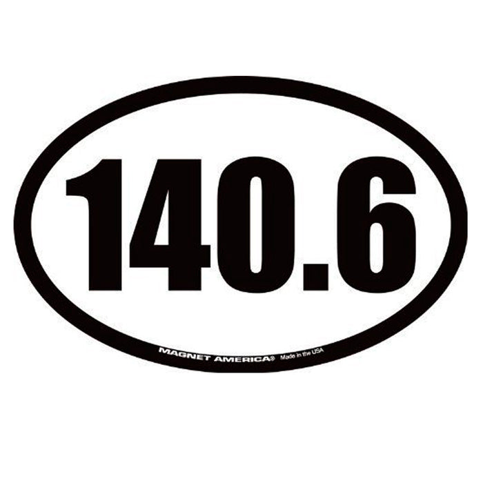 2PC 140.6 Full Triathlon Magnet Bumper Oval Decal Car Swim Bike Run Race
