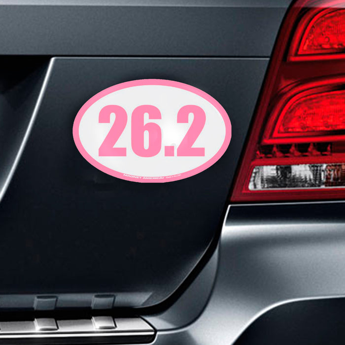 2 X 26.2 Marathon Vinyl Decal Magnet Car Truck Bumper Running Sports Race Pink