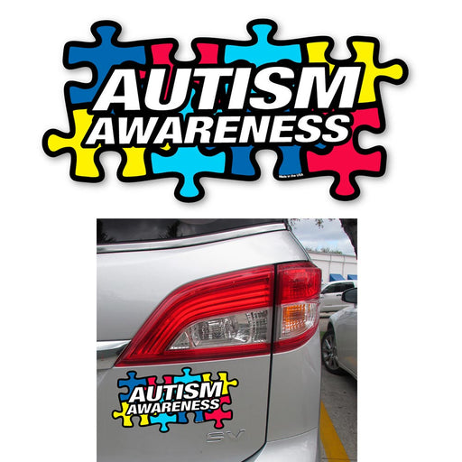 1 Autism Awareness Car Decal Puzzle Piece Magnet Truck Bumper Refrigerator Board