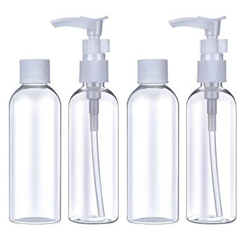 4pc Travel Bottle Carry On Kit Plastic Empty Jar Storage Container Portable 60mL