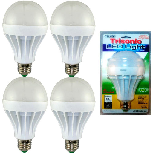 4 Pc Daylight 15 Watt Energy LED Light Bulb 125 W Output Replacement 600 Lumens