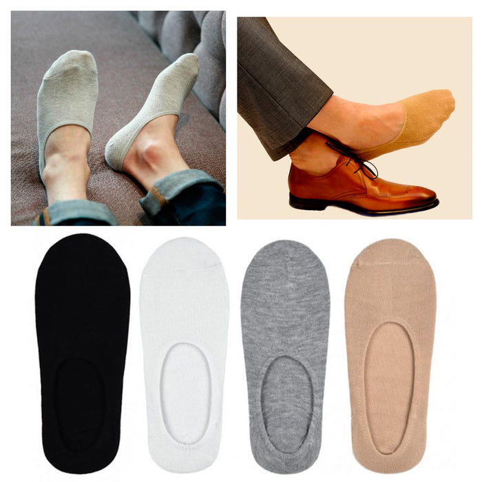 9 Mens Loafers Foot Cover Ankle Socks Invisible Boat Liner No Show Low Cut