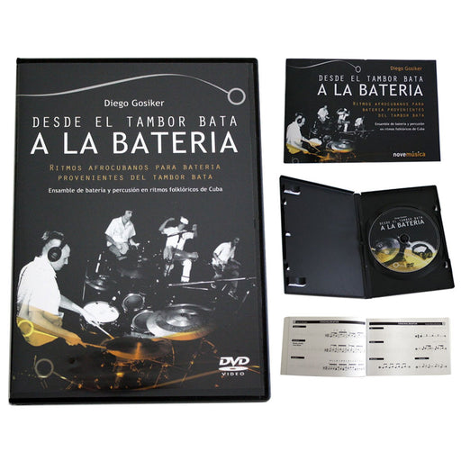 DVD Desde El Tambor Bata A La Bateria by Diego Gosiker Learn Play Drums Cuban