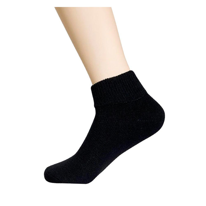 12 Pair Diabetic Ankle Circulatory Socks Health Support Mens Fit Black Size 9-11