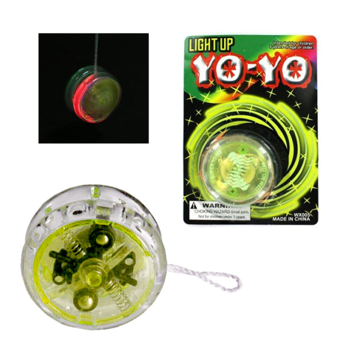 4 X YoYo Light Up Glow Party Favor Classic Magic Toy Children Games Kid Gift