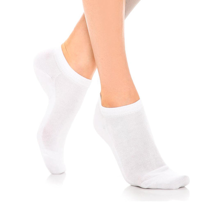 6 Pairs Womens Ankle Socks Low Cut Fit Crew Size 9-11 Sports White Footies