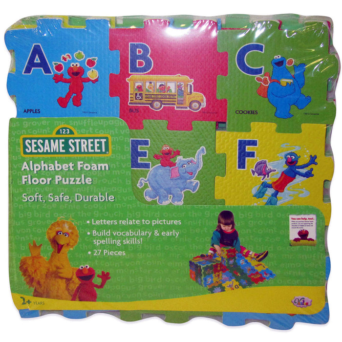 27Pcs Sesame Street Alphabet Multicolor Foam Floor Mats A-Z Kid Educational Toy