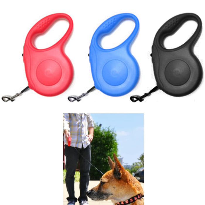 2 Pc 16.4Ft Automatic Retractable Dog Leash Pet Collar Automatic Walking Lead